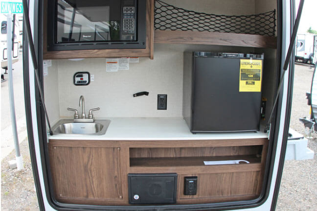 Teardrop Trailer Rental Kitchen