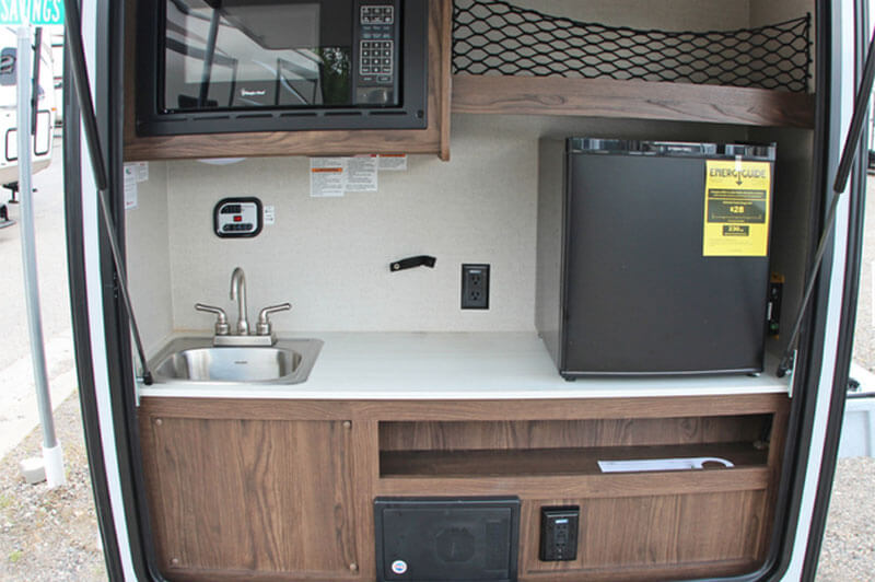 Teardrop Trailer Kitchen Area