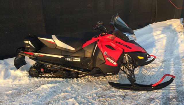 Person riding a snowmobile