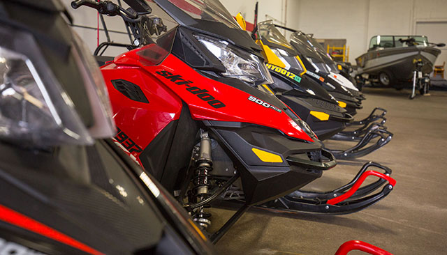 Line of Snowmobile Rentals